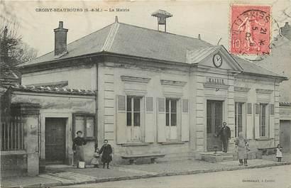 "CPA FRANCE 77 ""Croisy Beaubourg, la mairie"""