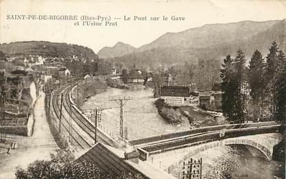 """/ CPA FRANCE 65 """"Saint Pé de Bigorre, le pont sur le Gave et l'usine Prat"""""""
