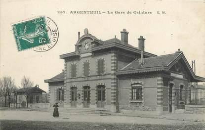 """/ CPA FRANCE 95 """"Argenteuil, la gare de Ceinture"""""""