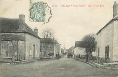 "CPA FRANCE 77 ""Chatenay sur Seine, la grande rue"""