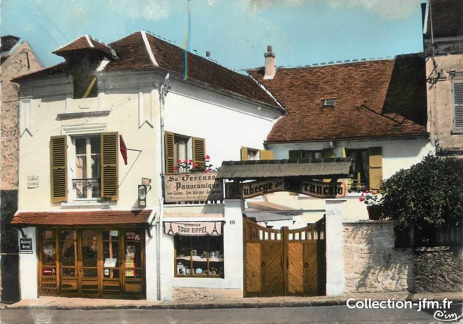 Cpsm france 95 nerville la for t l 39 auberge des for Restaurant domont 95