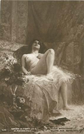 """/ CPA NU / SALON DE PARIS 1913 """"A. Parreiras, fleur Brésilienne"""""""