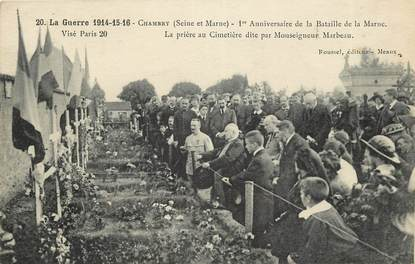 """CPA FRANCE 77 """"Chambry, 1er anniversaire de la bataille de la marne"""""""