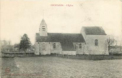 """CPA FRANCE 77 """"Courtacon, l'Eglise"""""""