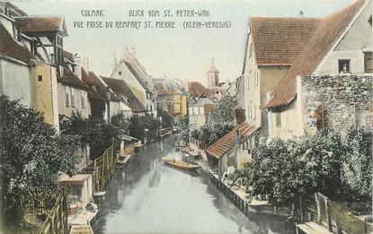 """/ CPA FRANCE 68 """"Colmar, vue prise du rempart Saint Pierre"""""""