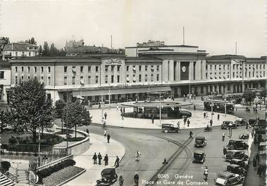 "CPSM SUISSE ""Genève, la gare de Cornavin"""