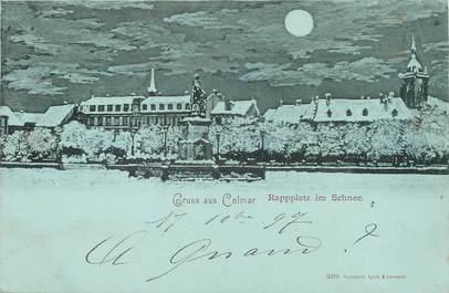 """/ CPA FRANCE 68 """"Colmar, place Rapp sous la Neige"""""""