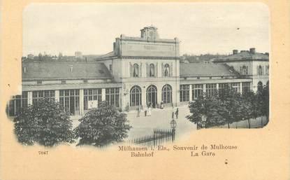 """/ CPA FRANCE 68 """"Mulhouse, la gare """""""