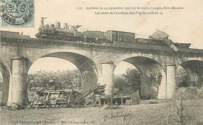 """/ CPA FRANCE 33 """"Accident du 24 septembre 1905 sur le viaduc Langon Saint Macaire"""""""