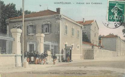 """/ CPA FRANCE 26 """"Montélimar, av des casernes"""""""