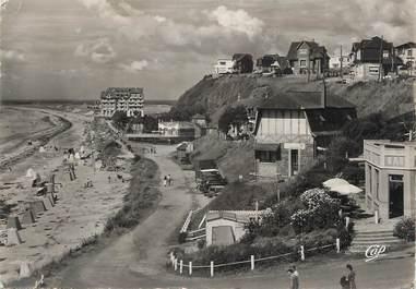 """/ CPSM FRANCE 50 """"Donville, la plage et l'hôtel de l'Ermitage"""""""