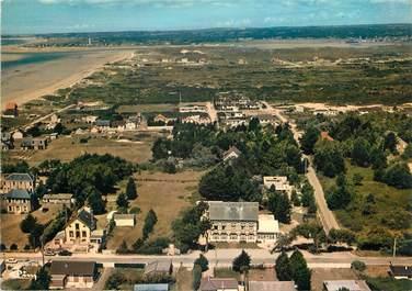 """/ CPSM FRANCE 50 """"Denneville plage, vue générale aérienne """""""