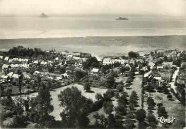 """/ CPSM FRANCE 50 """"Genets, vue aérienne vers la baie du Mont Saint Michel"""""""