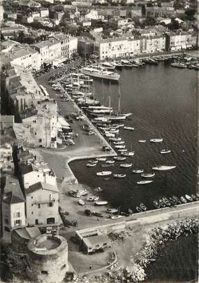 """/ CPSM FRANCE 83 """"Saint Tropez, le port et la vieille tour"""""""
