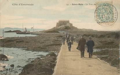 "/ CPA FRANCE 35 ""Saint Malo, le fort"""