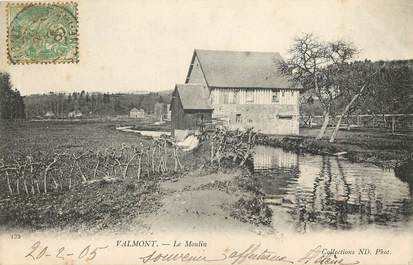 """CPA FRANCE 76 """"Valmont, le moulin"""
