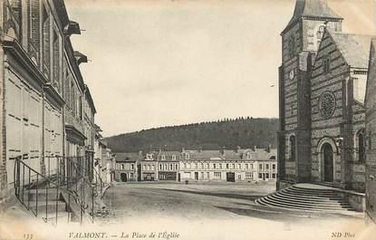 """CPA FRANCE 76 """"Valmont, la place de l'Eglise"""""""