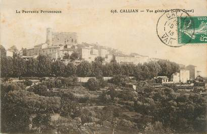 "/ CPA FRANCE 83 ""Callian, vue générale"""