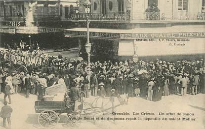 """/ CPA FRANCE 38 """"Grenoble, les Grèves, dépouille du soldat Mollier"""""""