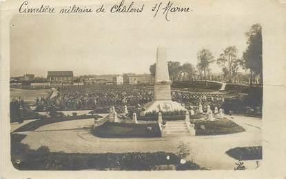 """/ CARTE PHOTO FRANCE 71 """"Cimetière militaire de Châlons sur Marne"""""""