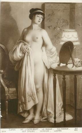 "/ CPA NU / SALON nr 2474 ""Af J. Scalbert, le miroir '"