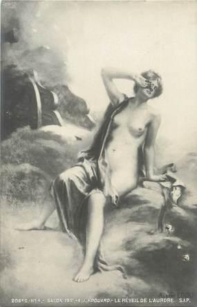 """/ CPA NU / SALON 1901 nr 206 """"A.J Edouard, le réveil de l'Aurore"""""""