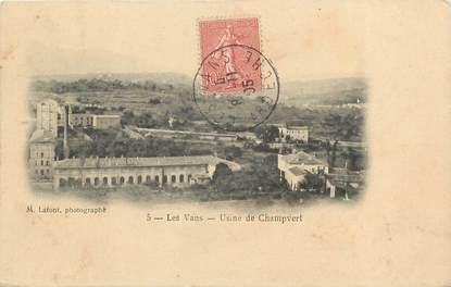 """CPA FRANCE 07 """"Les Vans, Usine de Champvert"""""""