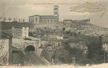 """CPA FRANCE 07 """"Lavoulte sur Rhone, vue générale côté sud"""""""