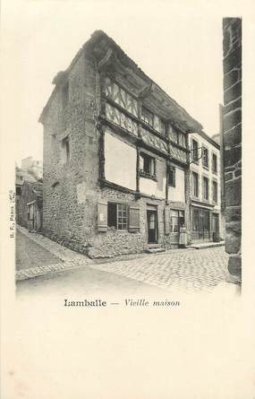 "/ CPA FRANCE 22 ""Lamballe, vieille maison"""