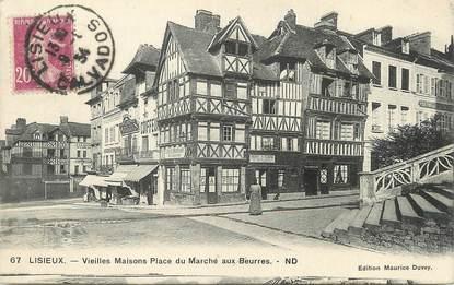 """/ CPA FRANCE 14 """"Lisieux, vieilles maisons place du marché aux beurres"""""""