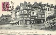 """14 Calvado / CPA FRANCE 14 """"Lisieux, vieilles maisons place du marché aux beurres"""""""