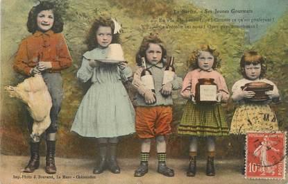 """/ CPA FRANCE 72 """"La Sarthe, ses jeunes gourmets"""" / ENFANTS"""