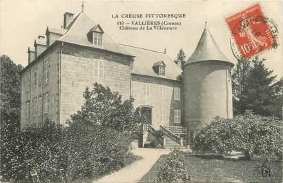 """/ CPA FRANCE 23 """"Vallières, château de La Villeneuve"""""""