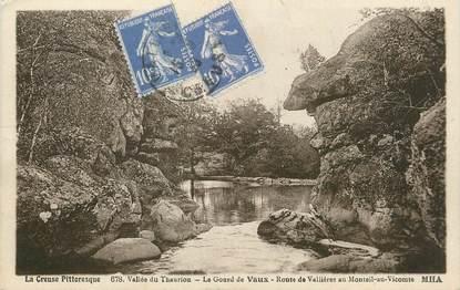 """/ CPA FRANCE 23 """"Le Gourd de Vaux, route de Vallières au Monteil au Vicomte"""""""