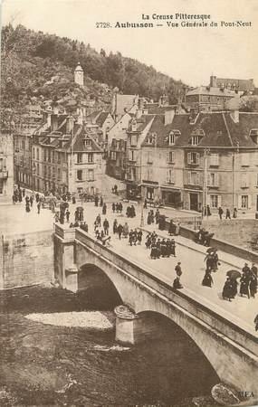 """/ CPA FRANCE 23 """"Aubusson, vue générale du pont neuf"""""""