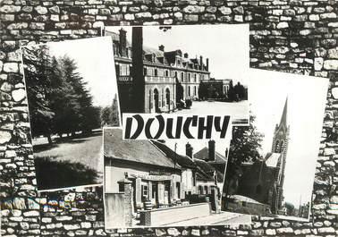 """/ CPSM FRANCE 45 """"Douchy, allée des Sapins Château de la Brûlerie"""""""