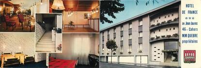 "/ CPSM FRANCE 46 ""Cahors, hôtel de France"" /  LIVRET"