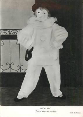 "CPSM PICASSO ""Pierrot avec son masque"""