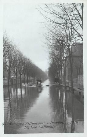"""/ CPA FRANCE 92 """"Boulogne Billancourt, inondation 1910, la rue nationale"""""""