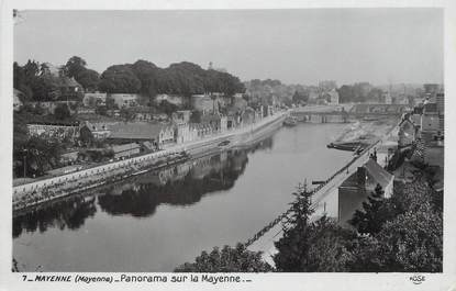 "/ CPSM FRANCE 53 ""Mayenne, panorama sur la Mayenne"""