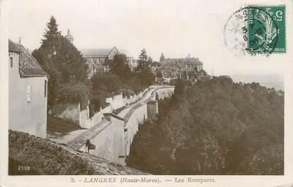 """/ CPSM FRANCE 52 """"Langres, les remparts"""""""