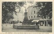 "07 Ardeche / CPA FRANCE 07 ""Aubenas, statue Jean Mathon"""