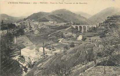 """/ CPA FRANCE 07 """"Privas, pont du petit Tournon et de Bourdely"""""""
