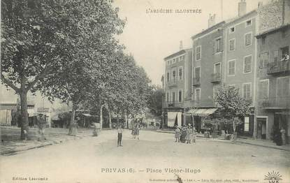 "/ CPA FRANCE 07 ""Privas, place Victor Hugo"""