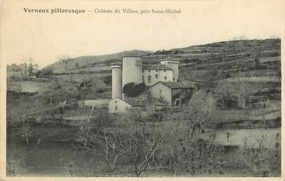 """CPA FRANCE 07 """"Vernoux, Chateau du Villars"""""""