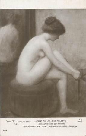 """/ CPA NU / SALON 1912 nr 1194 """"Louis Picard, jeune femme à sa toilette"""""""