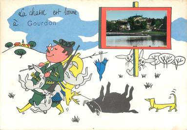 """/ CPSM FRANCE 46 """"Gourdon""""  /  CHASSE"""