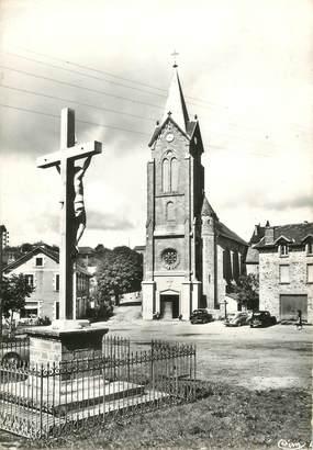"""/ CPSM FRANCE 46 """"Latronquière, place de l'église"""""""