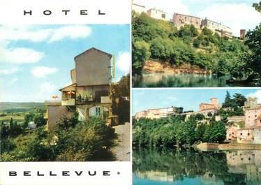 "/ CPSM FRANCE 46 ""Puy l'Evêque, hôtel restaurant Bellevue """