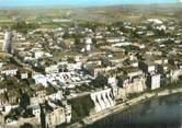 """47 Lot Et Garonne / CPSM FRANCE 47 """"Tonneins, vue panoramique aérienne et le château"""""""